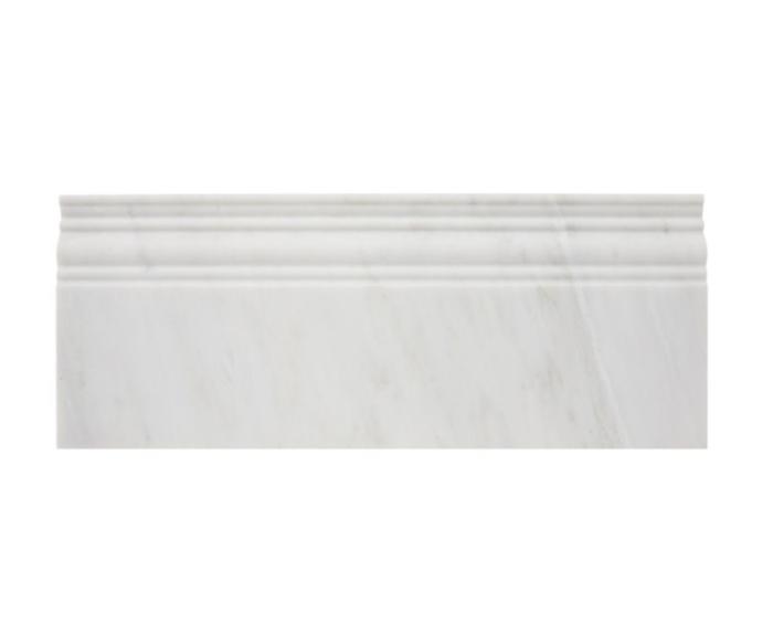 Hampton Carrara Marble Polished Skirting Trim - 12 in.