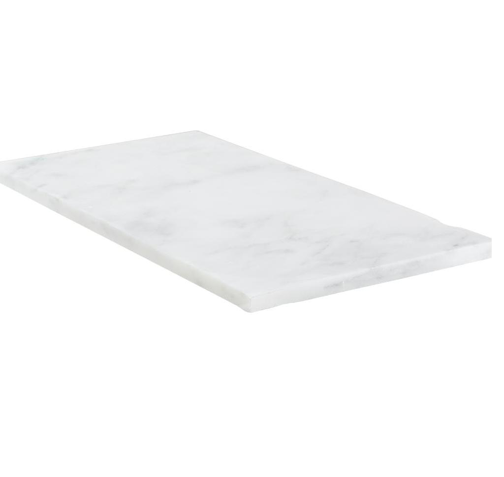 Hampton Carrara White Marble Matte Honed Tile - 6 x 12 in.