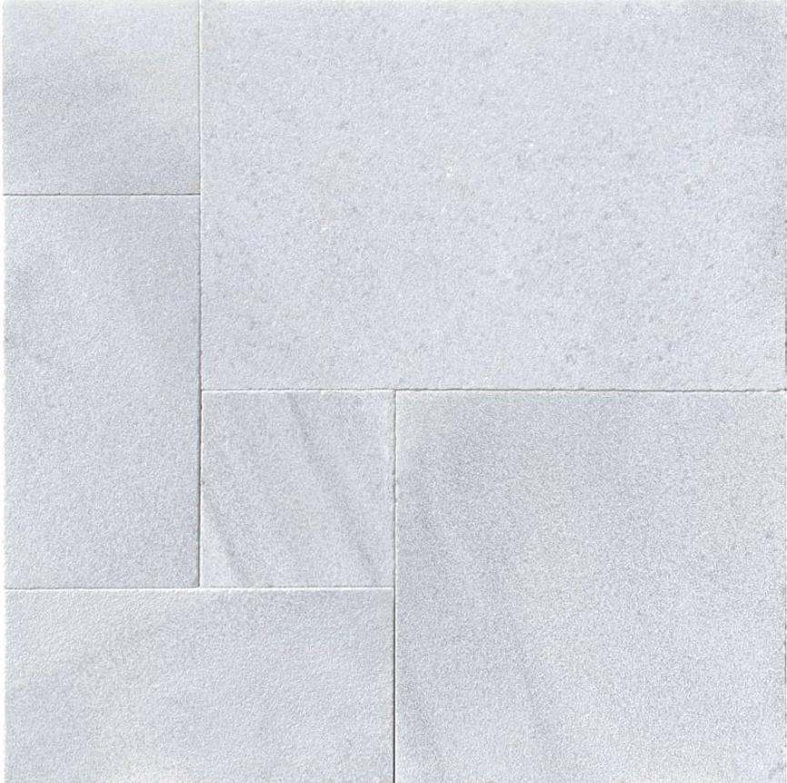 Hampton Carrara White Marble Paver Sandblasted Versailles Pattern
