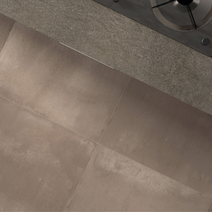 Iris Desire Brown Floor Tile Application
