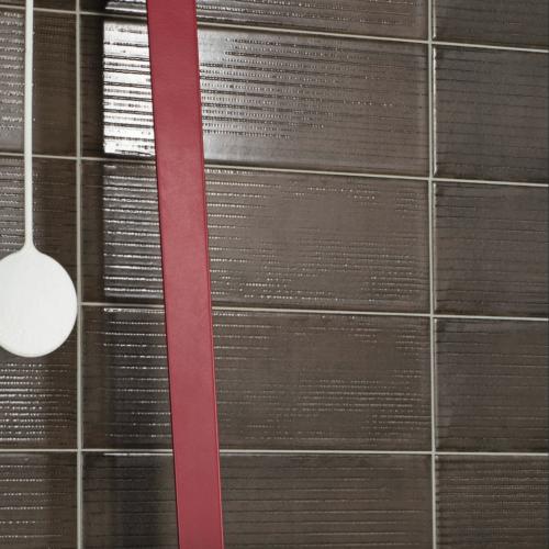 Iris Desire Brown Wall Tile Ambiance