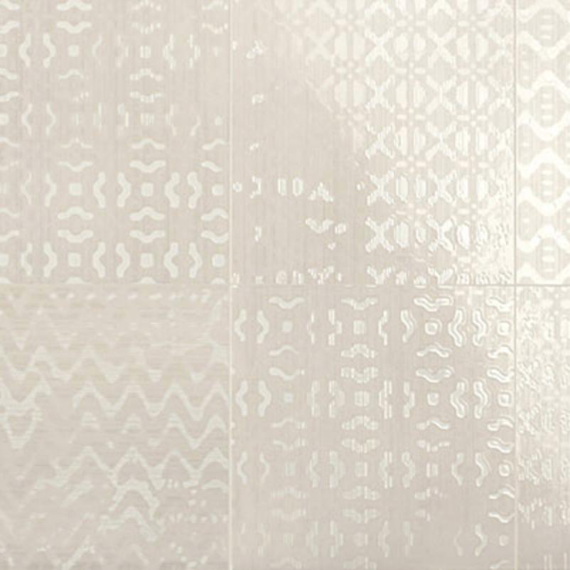 Iris Desire Deco Beige Glossy Wall Tile 8x8