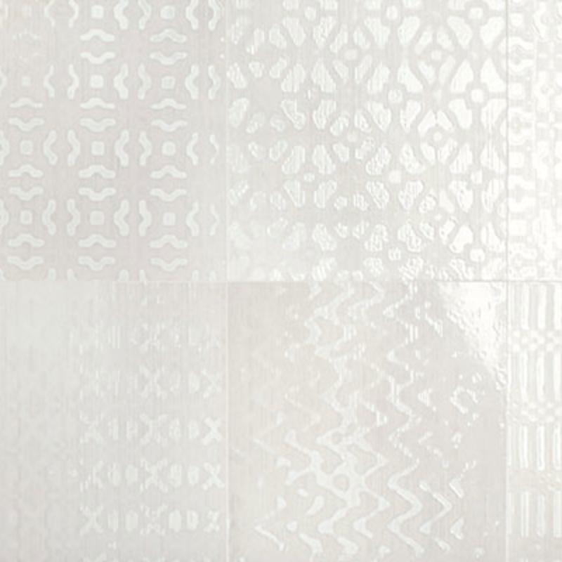 Iris Desire Deco Ivory Glossy Wall Tile 8x8