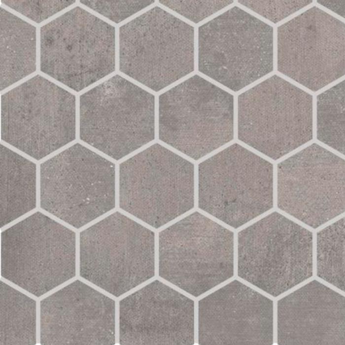 Iris Desire Grey Mosaic Hex 2 x 2 in.