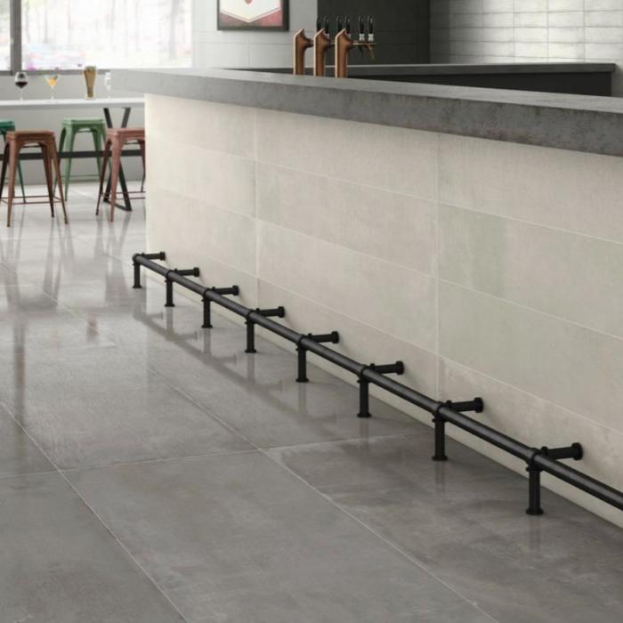 Iris Desire Grey Floor Tile Application