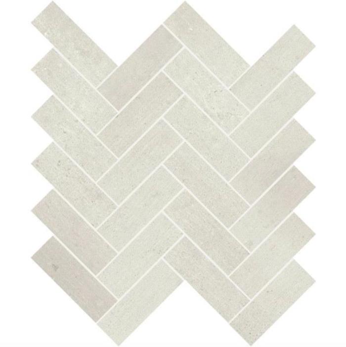 Iris Desire White Mosaic Chevron