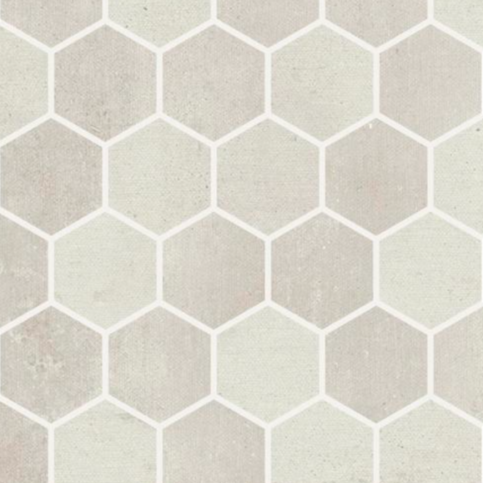 Iris Desire White Mosaic Hex 2 x 2 in.