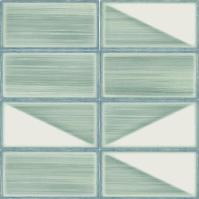 Iris LOL Aquamarine Deco Wall Tile
