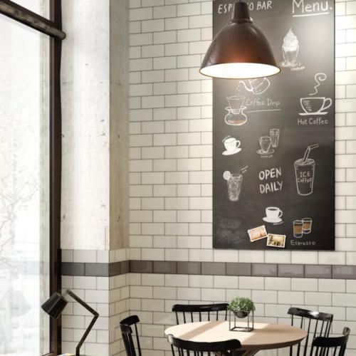 Iris LOL White Ceramic Glossy Wall Tile 4x8 Restaurant