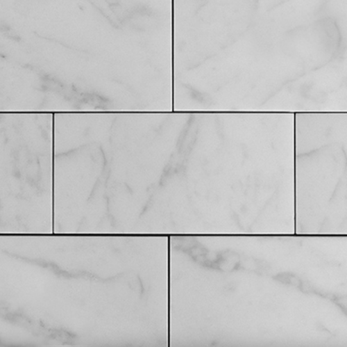 White Marble Matte Honed Subway Wall & Floor Tile - 3 x 6 in.
