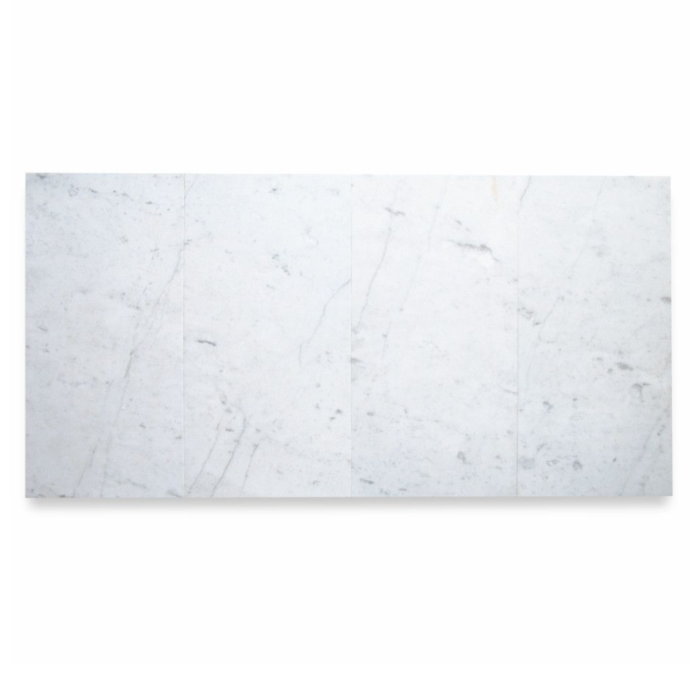 Italia F Carrara White Marble Matte Honed Tile - 12 x 24 in.