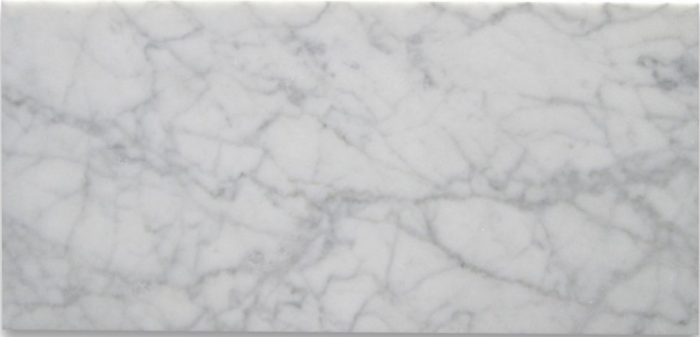 Italia F Carrara White Marble Matte Honed Tile - 6 x 12 in.