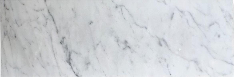 Italia F Carrara White Marble Matte Honed Tile - 6 x 18 in.