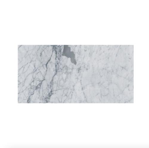 """Italia F Carrara White Marble Polished Tile 12""""x24"""""""