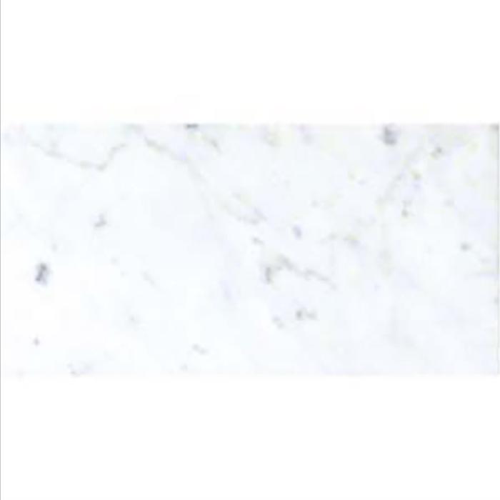 Italia F Carrara White Marble Polished Tile - 6 x 12 in.