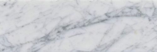 Italia F Carrara White Marble Polished Tile 6x18 -1