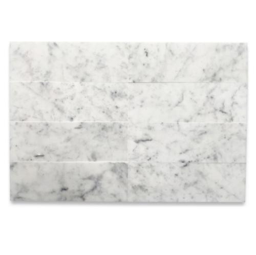 """Italia F Carrara White Marble Polished Tile 6""""x18"""""""