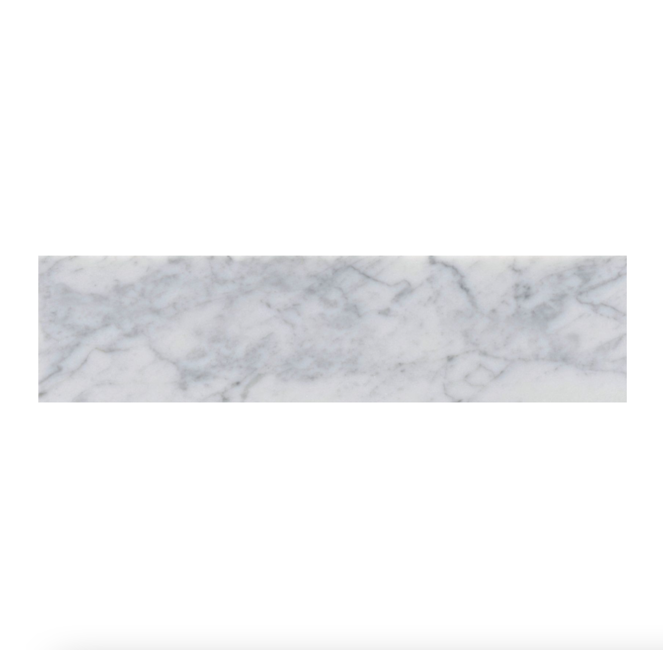 "Italia F Carrara White Marble Polished Tile 6""x24"""