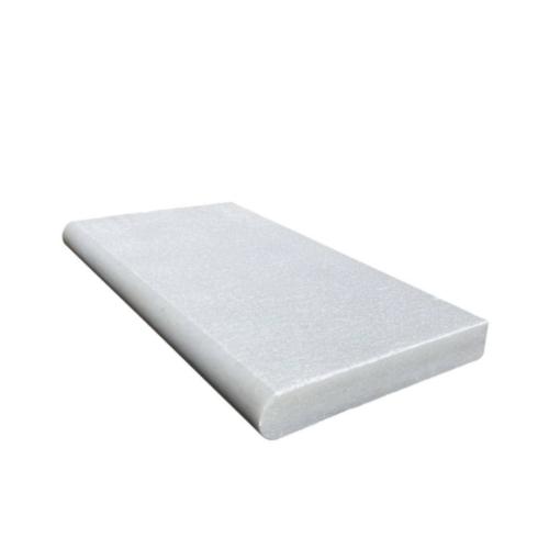 Royal Carrara Marble-Paver Sandblasted Coping long side 12x24x2