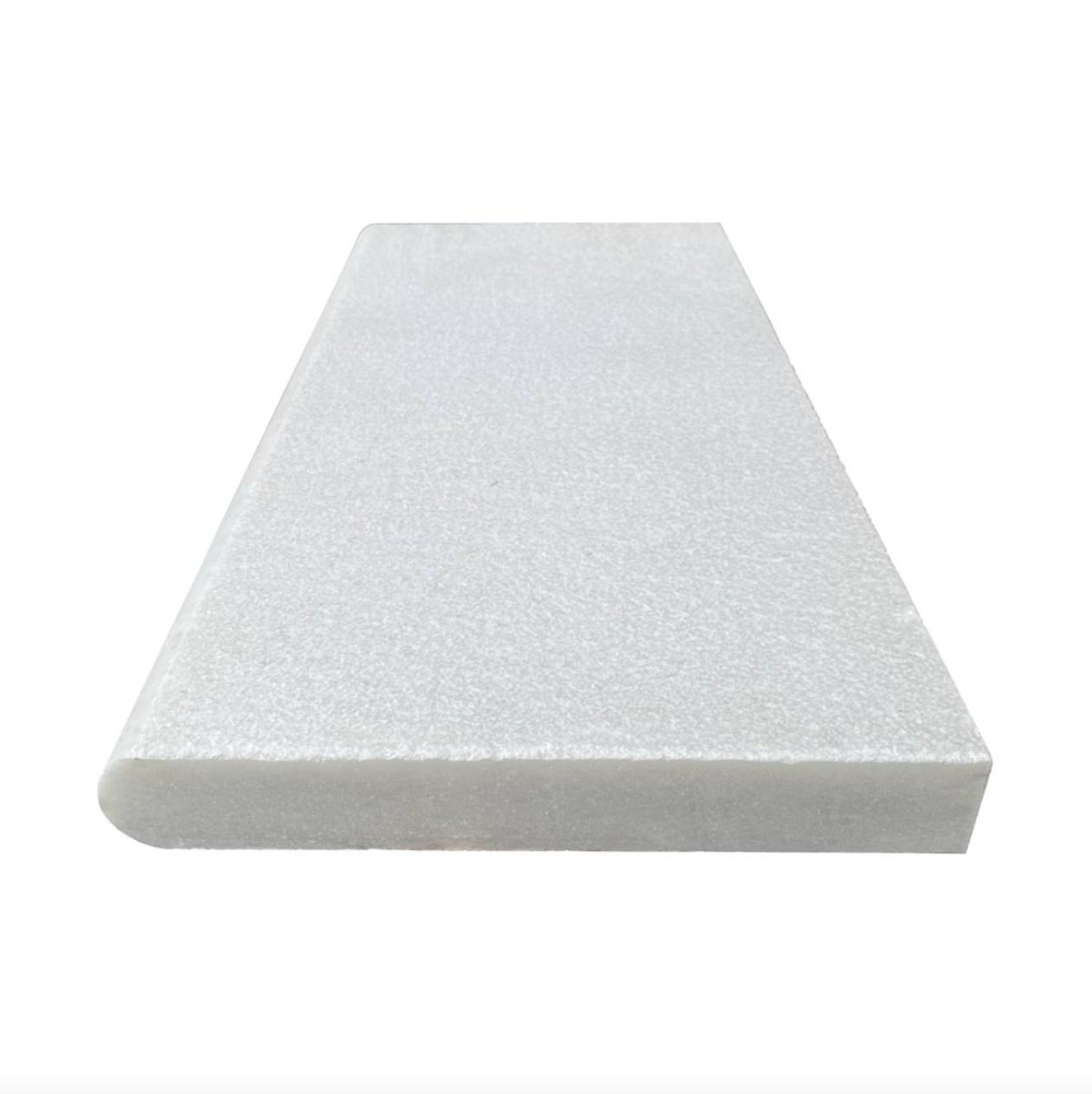 Royal Carrara Marble Paver Sandblasted Coping long side 12x24x2