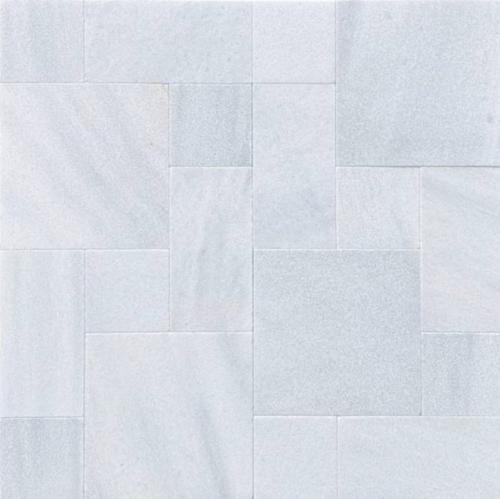 Royal Carrara Marble Paver Sandblasted Roman Pattern