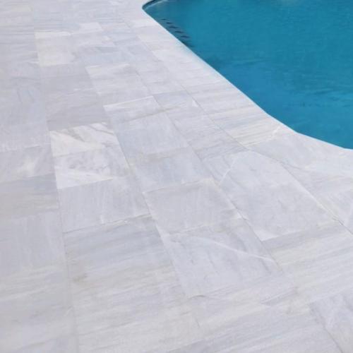 Hampton Carrara Marble Paver Sandblasted 6 x 12 x 1 1/4