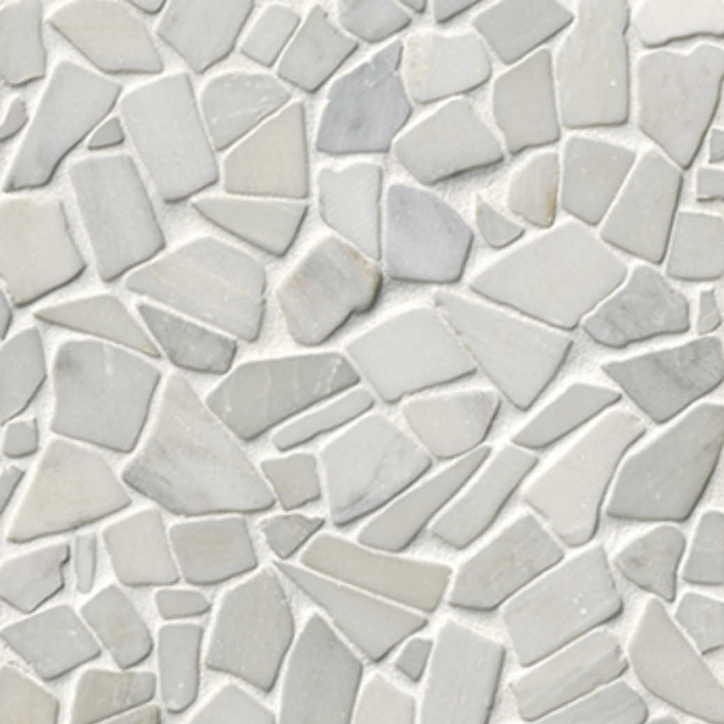 West Hampton Carrara Tumbled Cobbletsone mosaic