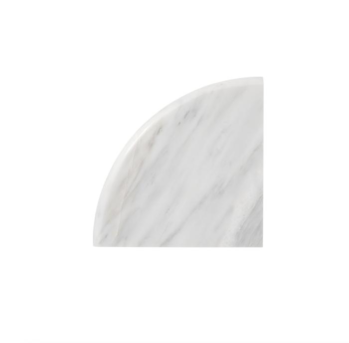 Hampton Carrara Marble Polished Hand Carved Flat Corner