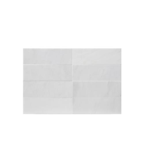 "West Hampton Carrara White Marble Matte Honed Tile 4""x12"""