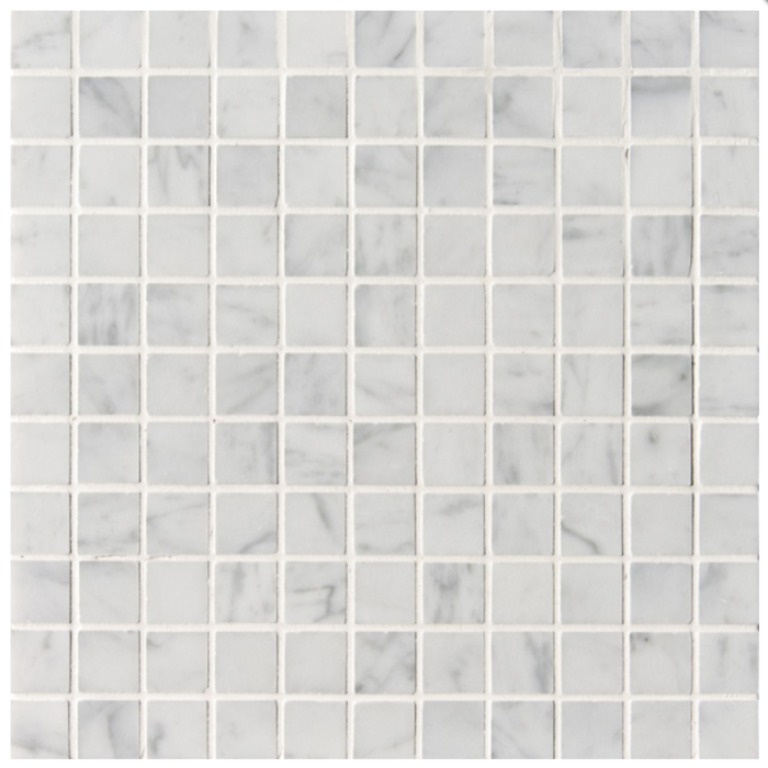 West Hampton Carrara White Marble Honed Mosaic Tile - 1 x 1 in.