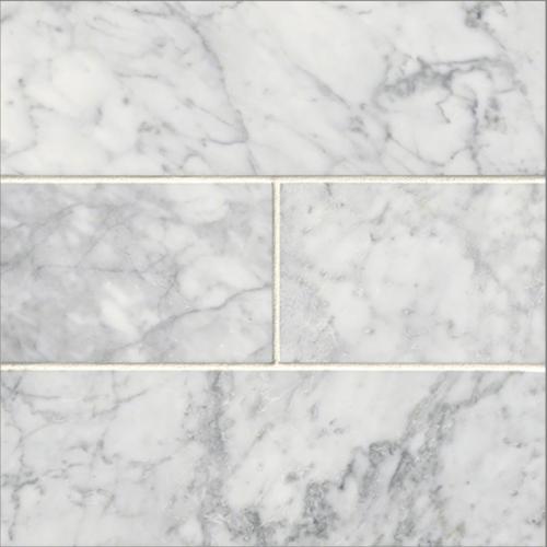 """Italia F Carrara White Marble Polished ile 4""""x12"""""""
