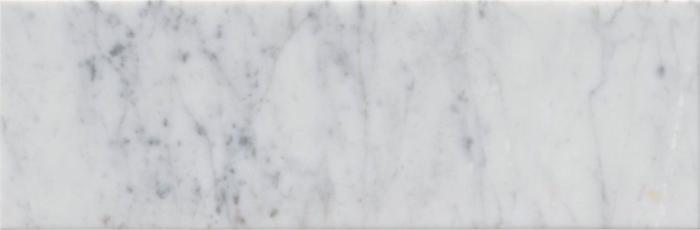 "Italia F Carrara White Marble Matte Honed Tile 4""x12"""