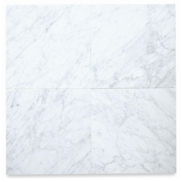 Italia F Carrara White Marble Matte Honed Tile - 12 x 12 in.