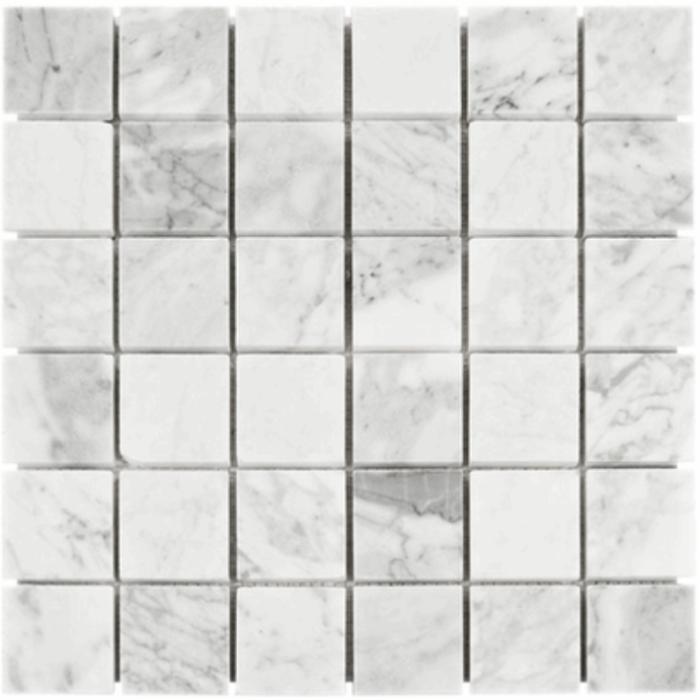Italia F Carrara White Marble Honed Mosaic Tile - 2 x 2 in.