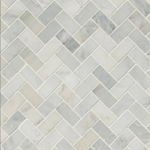 Hampton Carrara White Marble Honed Mosaic Tile 2 x2 in.