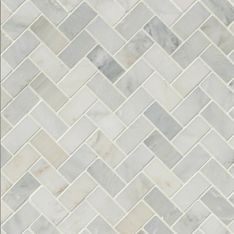 Hampton Carrara White Marble Honed Mosaic Tile 2 x2 in.