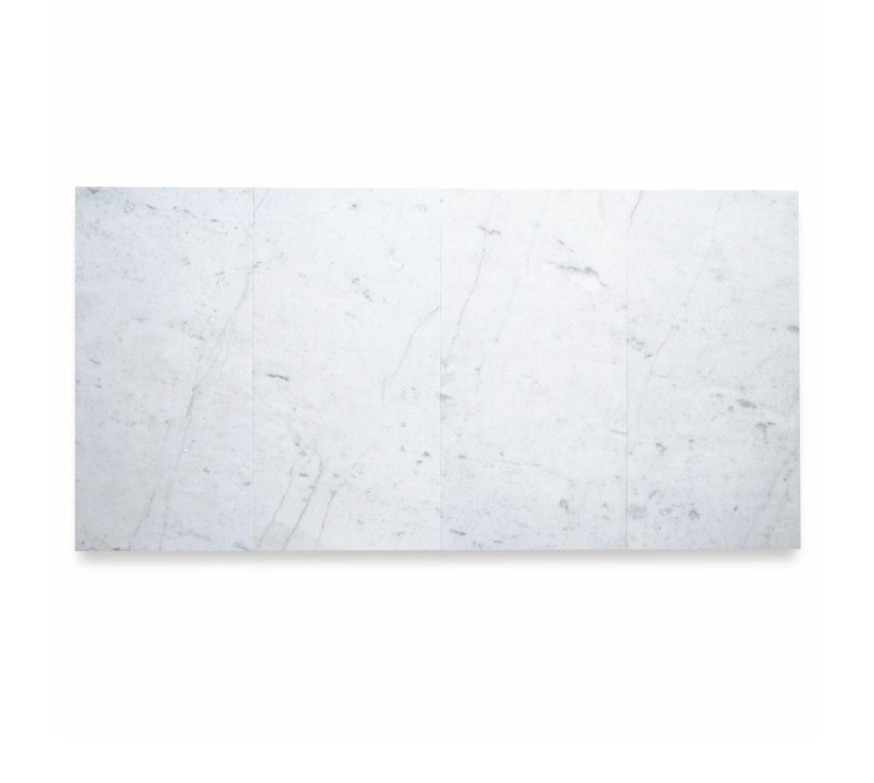 West Hampton Carrara White Marble Matte Honed Tile 12x24