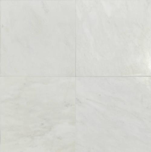 "Hampton Carrara White Marble Matte Honed Tile 18""x18"""