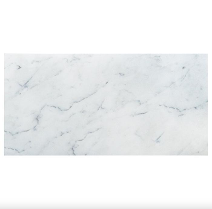 Hampton Carrara White Marble Matte Honed Tile 18x36