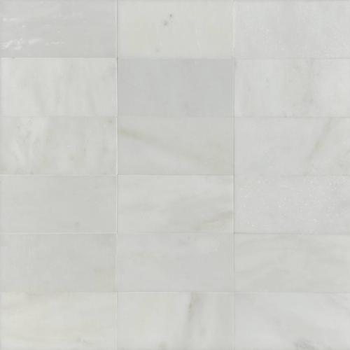 Hampton Carrara White Marble Matte Honed Tile 3x6