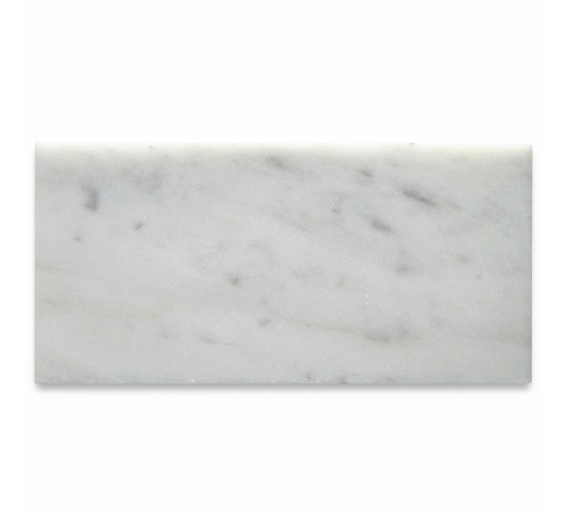 "West Hampton Carrara White Marble Matte Honed Tile 3""x6"""
