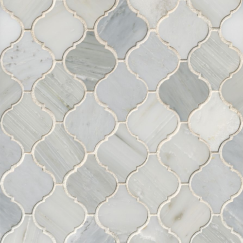Hampton Carrara White Marble Tumbled Mosaic Tile 2 x 2