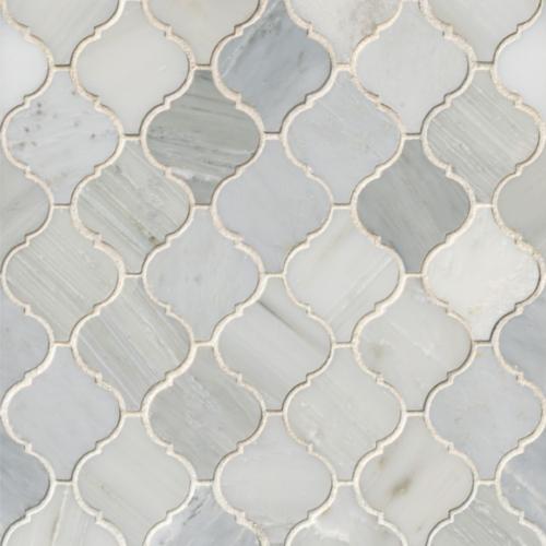 Hampton Carrara White Marble Tumbled Mosaic Tile 2 x 2