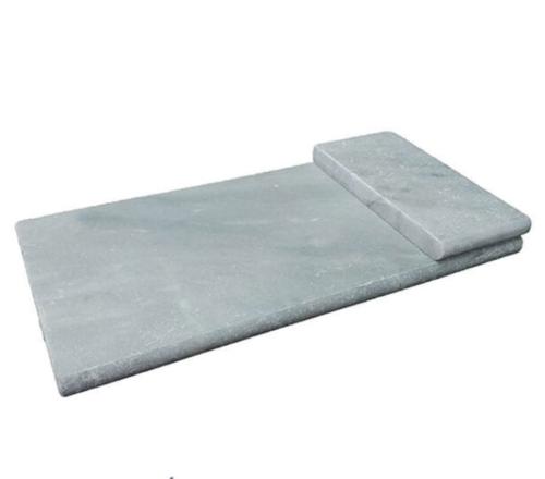 Hampton Carrara Marble Paver Honed Coping short side 6x12x1.25