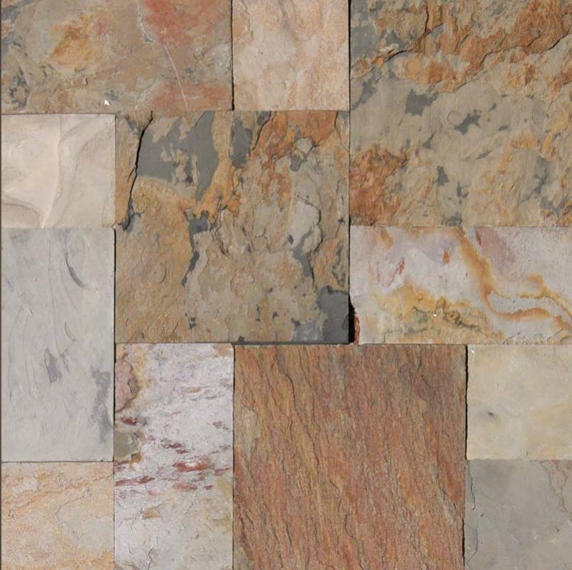 A. Ganges Slate Trio Pattern Tile