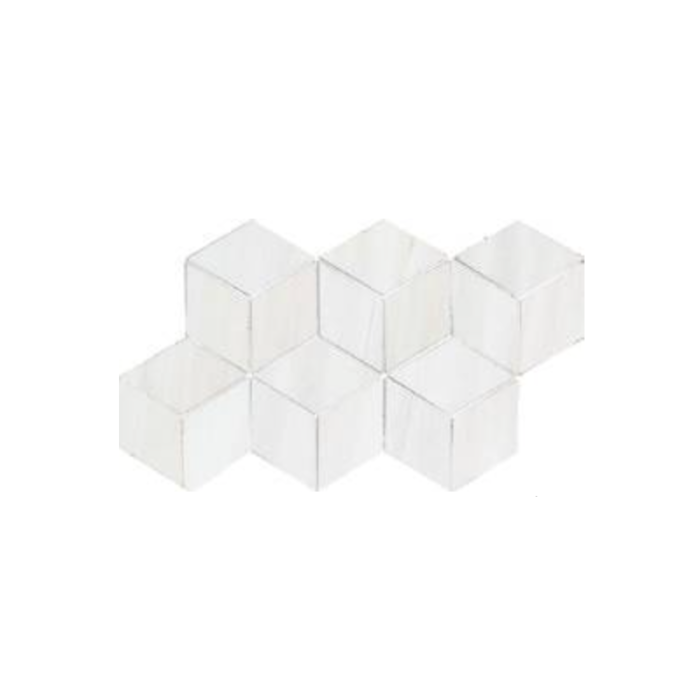 Dolomite White 3D Hexagon Polished Mosaic (7x 12.6 Sheet) Wall Use Only