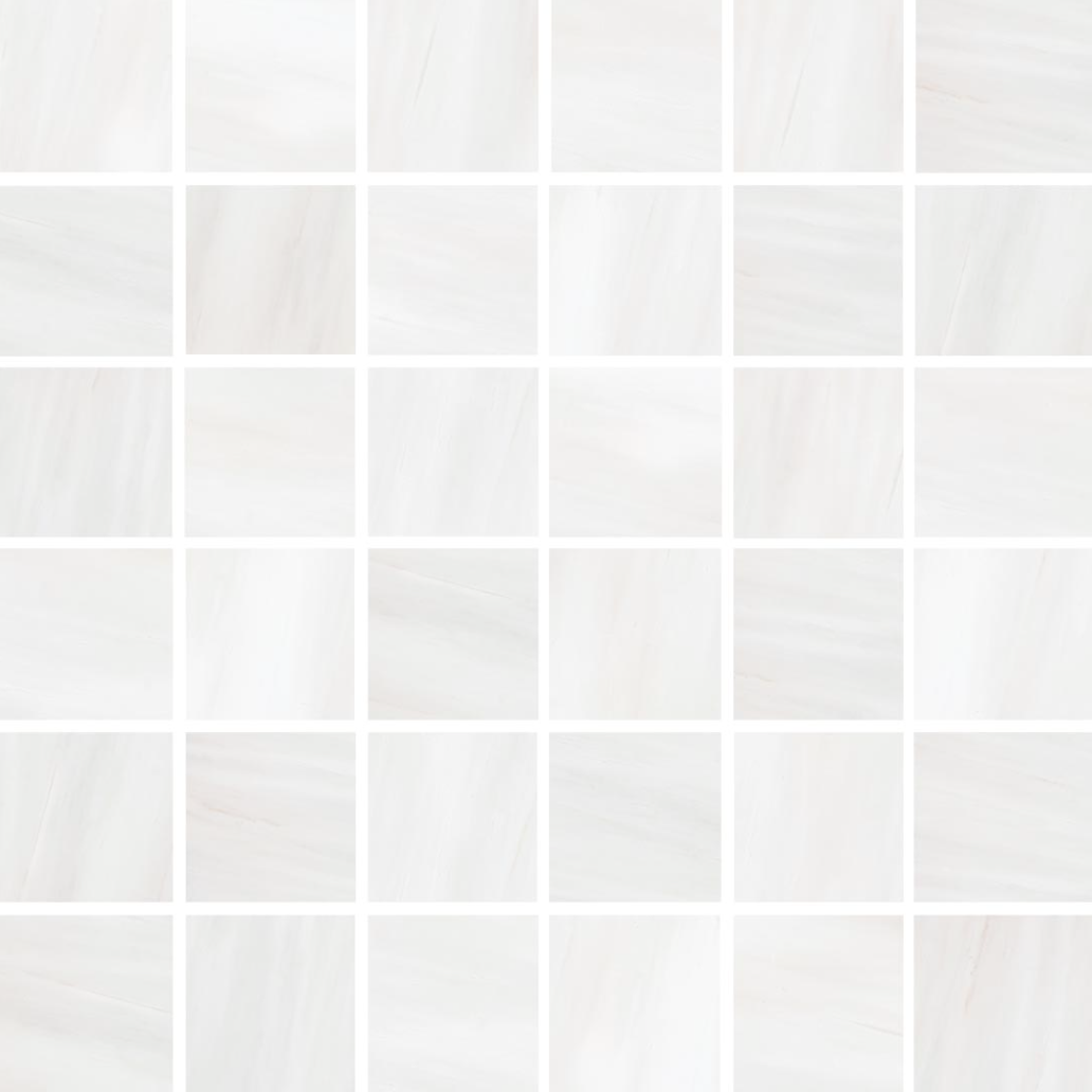 Happy Floors Dolomite White Natural 2 x 2 Mosaic