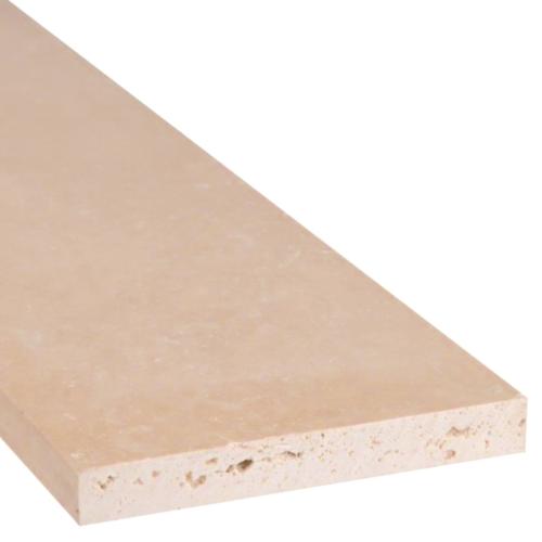 Durango Travertine Honed Double Beveled Floor Threshold & Shower Curb Top 6x72x0.75