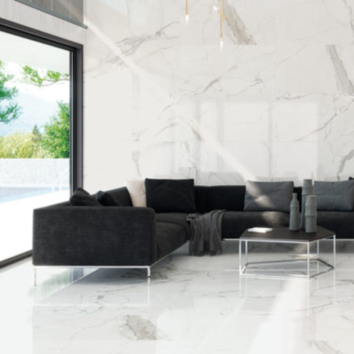 Glossy Statuario Happy Floors Porcelain Tiles