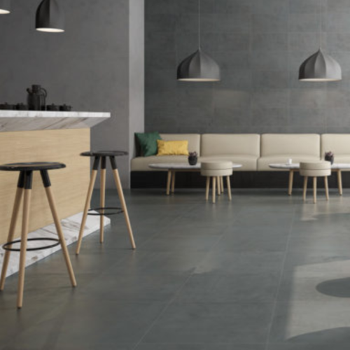 Happy Floors Iron Anthracite Porcelain Floor and Wall Tile